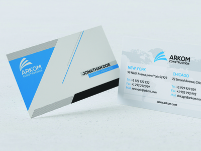 Modern Business Card Design branding vector design typography illustration visa card id card corporate card visiting card business card