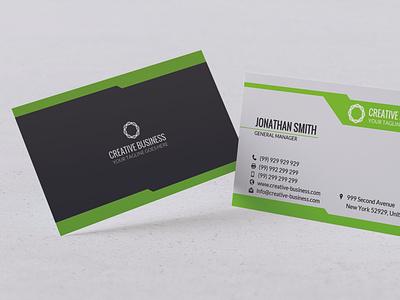 Modern Business Card Design t-design branding vector design typography illustration ai psd visa card id visiting card business card