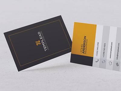 Modern Business Card Design branding vector design typography illustration ai psd business id card corporate card visiting card business card