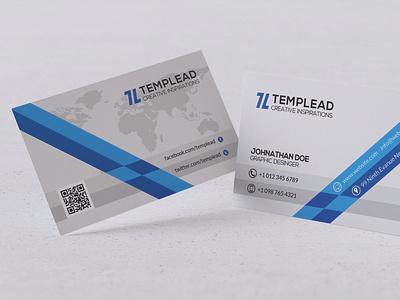 Modern Business Card Design branding vector design typography illustration psd ai business id card corporate id visiting card business card