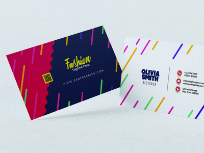 Modern Business Card Design ai logo psd branding vector design typography illustration id card corporate id visiting card business card