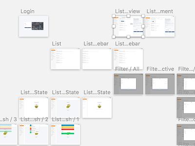 Project view sketchapp webapp ux