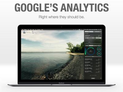 GA.TODAY OS X Launch Splash Image pie chart graph widget dashboard launch ui analytics landing page marketing splash