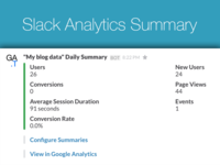 Google Analytics summary in Slack