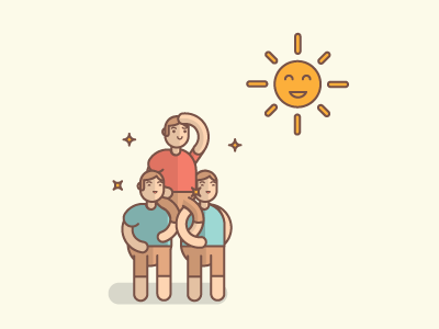 Popularity & Acclaim person people illustration vector sunshine cool acclaim popular popularity