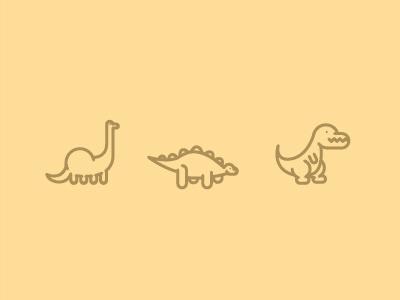 Lineosaurs trex t rex brachiosaurus stegosaurus line illustration vector dinosaurs dinosaur