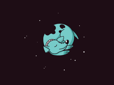 Dog In Space star earth laika planet stars space dog vector flat illustration