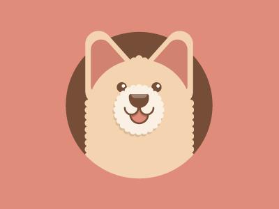 Puppy hound pooch pup puppy mutt bichon illustration icon vector flat dgo