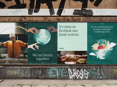 Rethink — Poster Layouts design restaurant food identity logo illustration branding