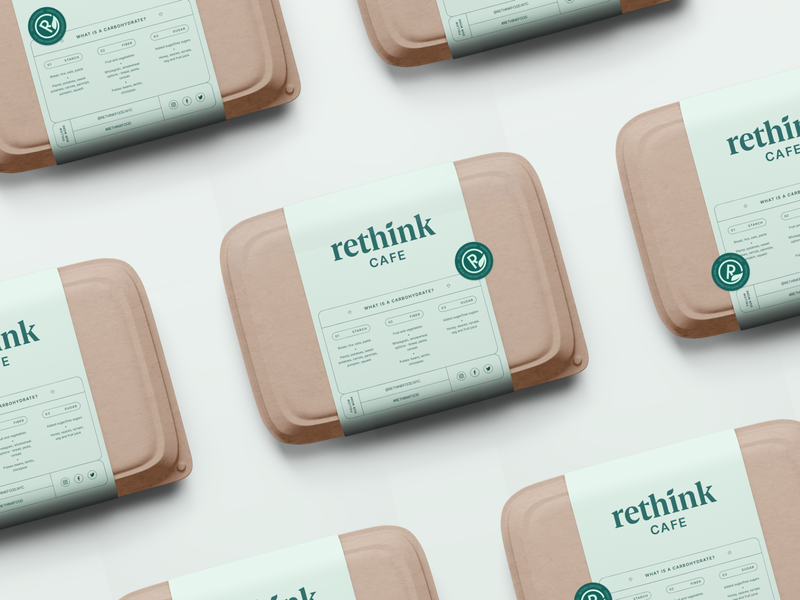 Rethink — Food Box food box package sustainable nutrition education packaging identity typography design branding
