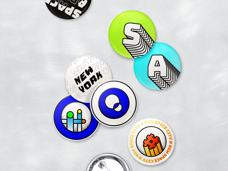 ◍ ◎ ◯ ◉ ⦾ star planet identity button pin icons branding nasa space