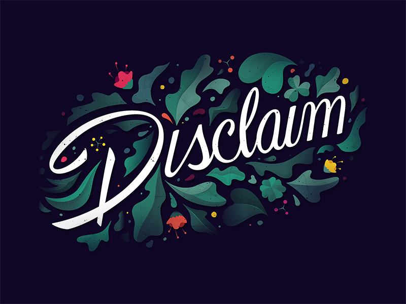 Disclaim handlettering brush handtype typography lettering script plant leaf flower floral nature tree