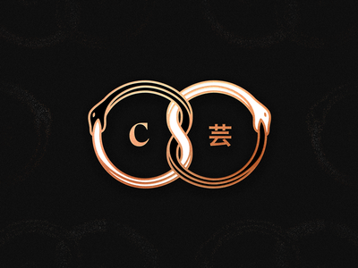 Symbiosis martinie infinity seal foil monogram signet icon rings character chinese japanese snake