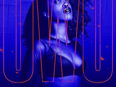 ◯ⓦ◯ martinie nigeria cover neon owo album music poster concert blue