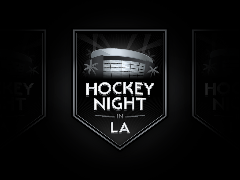 Kings classic art deco shield sports illustration stadium los angeles hockey crest logo typography branding