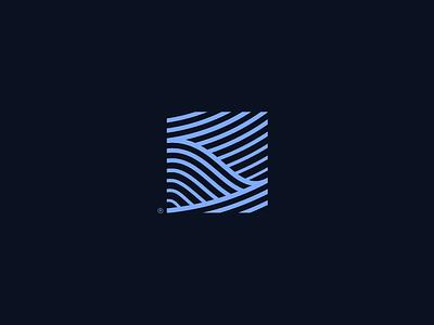 Ⓢ Monogram liquid wave mark water s eco blue green bio ocean waves monogram sea martinie pattern identity logo illustration icon branding