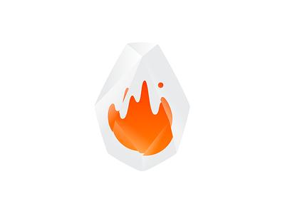AWS Firecracker Logo crystal diamond vector identity ux ui illustration gem stone flame fire icon mark logo branding web amazon