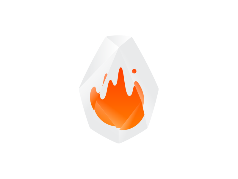 AWS Firecracker Logo crystal diamond vector identity ux ui illustration gem stone flame fire icon mark logo branding web amazon
