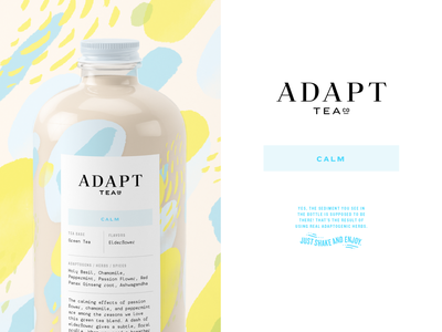Adapt Tea Co. drink calm healthy adaptogen tea texture pattern package design packaging design vector identity typography logo illustration branding