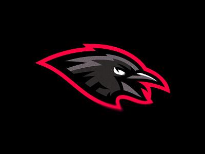 Raven bird raven animal putylo brand logotype branding mascot identity team sport logo