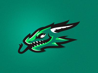 drago dragon animal head putylo logotype branding mascot identity sport team logo