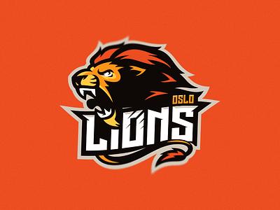 oslo lions update logotype putylo animal lion identity branding mascot team sport logo