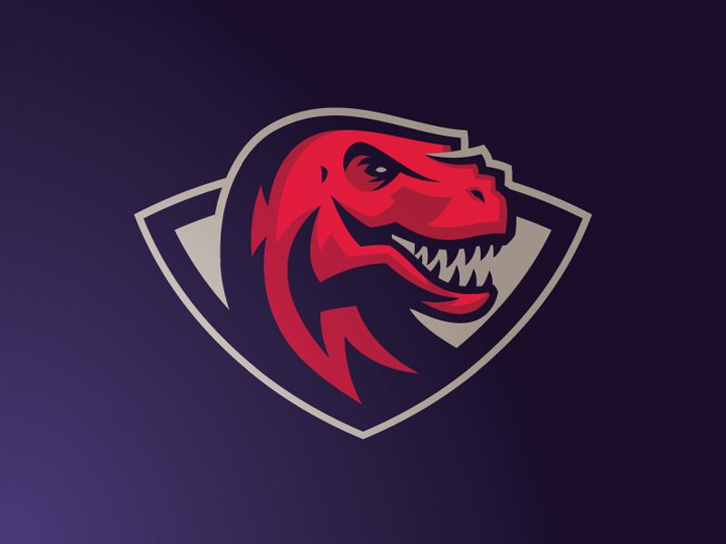 Trex mascot logo trex animal head sport branding brand