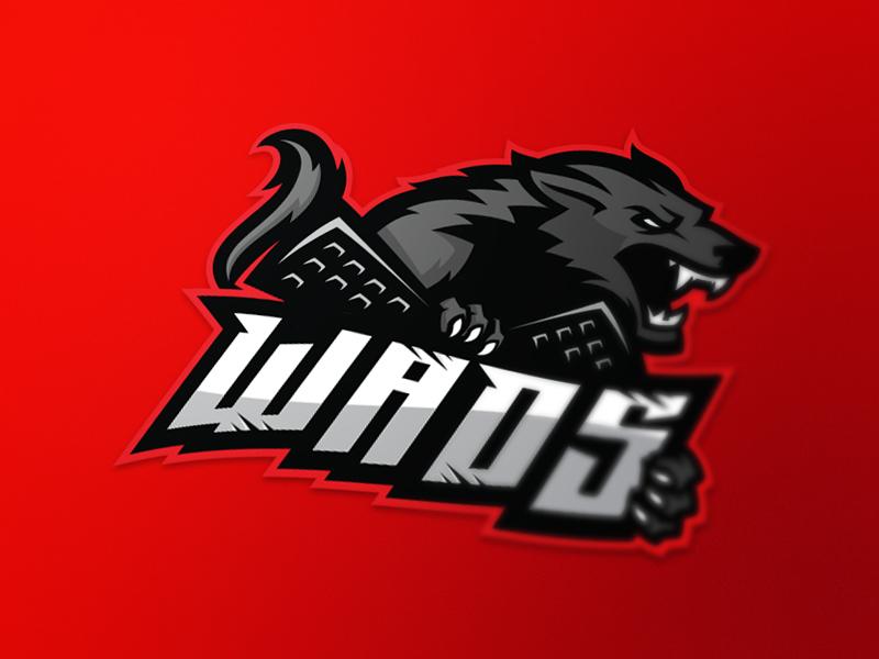 Wads  identity angry wolf esport team logo sport wolf wads