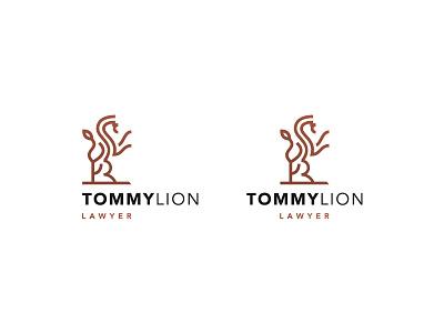 law brand wip minimalism simple logo brand law lion