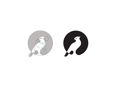 Lark logotype grid bird lark brand branding design identity logo