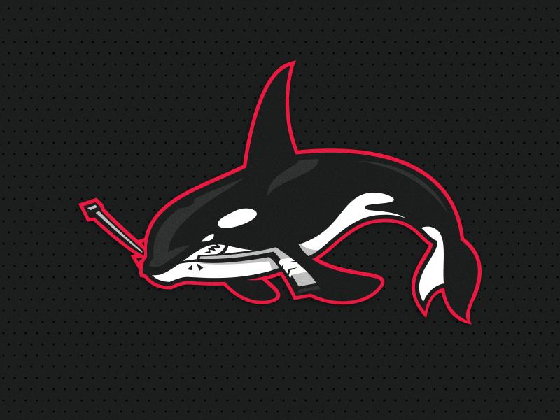 Orca 2 orca vector illustration esport animal logotype branding identity mascot team sport logo