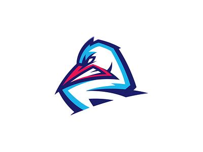 Stork hockey stork vector esports design illustration esport sports animal head putylo brand logotype branding team logo identity mascot sport