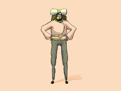 Harumph sleeves puffy dude climber illustration character
