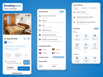 Booking. com - Hotel screen redesign product design uxdesign ux  ui ui ux hotel booking hotel booking app mobile design mobile ui ios ios app mobile app hotel app booking app