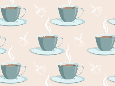 cup of coffe pattern pastel colors pattern pattern design design vector illustration