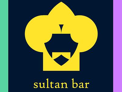 sultan bar logo design minimalist logo vector logo