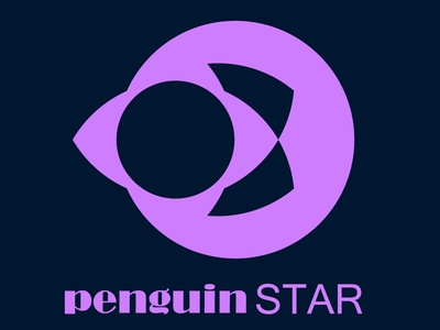 penguinSTAR logo design minimalist logo logo design vector
