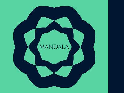 MANDALA logo design minimalist logo vector logo