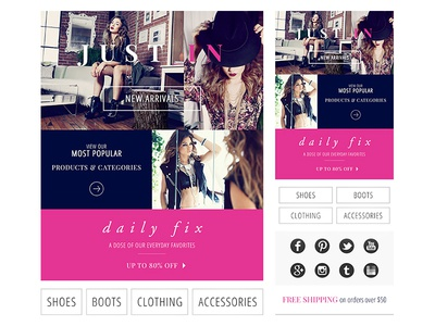 Scalable Fashion Email scalable fashion email responsive mobile clothing welcome