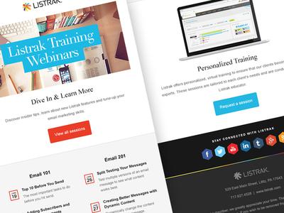Listrak Training Email listrak training email newsletter responsive mobile cta button social webinars calendar