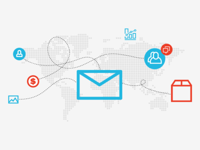 Ecommerce email ecommerce envelope shipping charts world data conntect