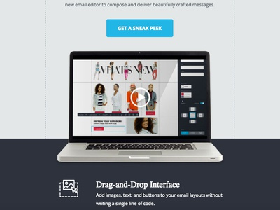 Sneak Peek play computer builder drop drag peek sneak video macbook email