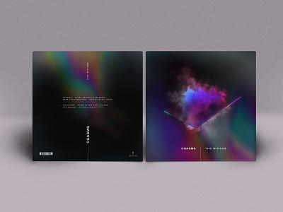Chasms - LP Art cinema 4d vdb mirror smoke record vinyl jacket rainbow spectral clouds octane vinyl lp los angeles chasms
