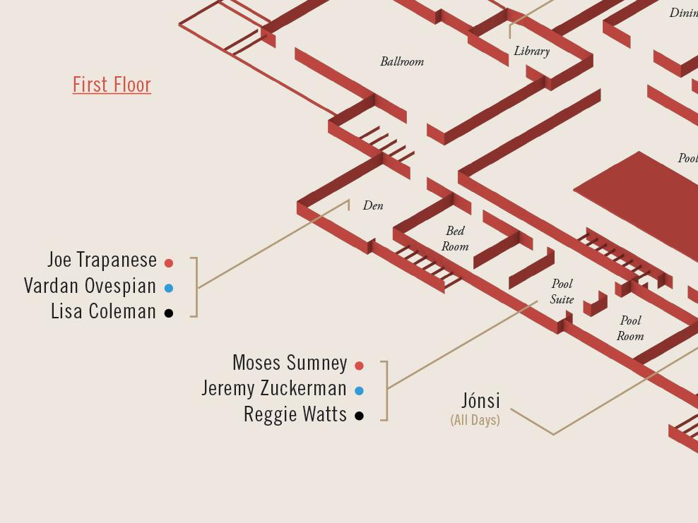 ES—SIX:FAMILY / Paramour Floor Plan isometric flat shading flat illustration c4d cinema 4d 3d floor plan