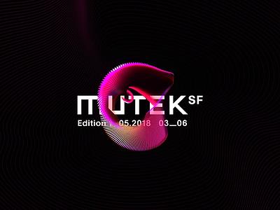 MUTEK.SF Logo Intro gif motion neon vibrant loop spectral echo geometric clone octane render octane cinema 4d c4d art media music festival experimental music electronic music san francisco mutek