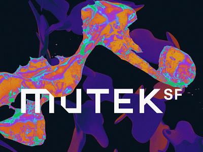 MUTEK.SF - Alternate Treatment san francisco acid spectral psychadelic psych illustration logo c4d 3d octane cinema 4d
