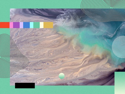 Seeker - Style Guide - Illustration Study style guide identity news technology science collage topographic color earth texture illustration branding
