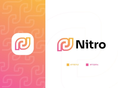 Nitro Logo | Modern minimal colorful monogram logo | N Logomark popular logo minimal logo tech technology digital n pattern logo new n logo m o d e r n l o g o simple creative work letter logo logotype app icon logo icon design logo design business logo company logo software logo brand identity designer colorful monogram lettermark fintech banking logo finance branding