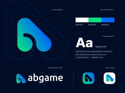 abgame logo branding | game logo trendy financial fintech blockchain gradient transition gamer ab letter a bootstrap startup identitydesign logo mark negative space gaminglogo sports design sports branding sports logo e sports game logo