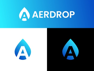 Aerdrop Logo Design | Liquid, Water, Fuel typography logotype fintech branding awesome logo a logo petrol gas minimalist logo combined logo design modern creative logo blue logo designer branding splash drop fluid fuel water liquid logodesign